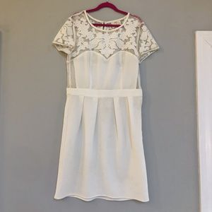 UO Pins and Needles White Dress